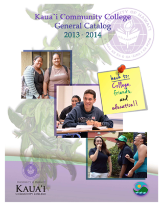 General catalog cover for Kauai Community College