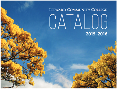 General catalog cover for Leeward Community College