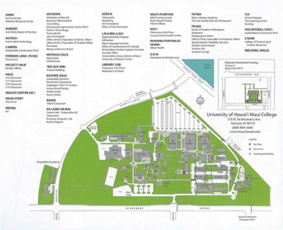Map of UH Maui College