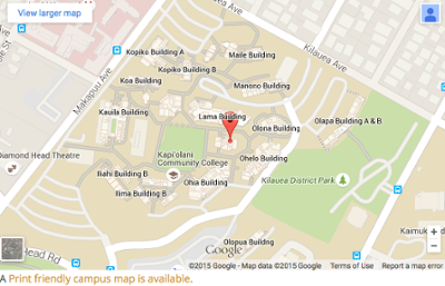 Map of Kapiolani Community College