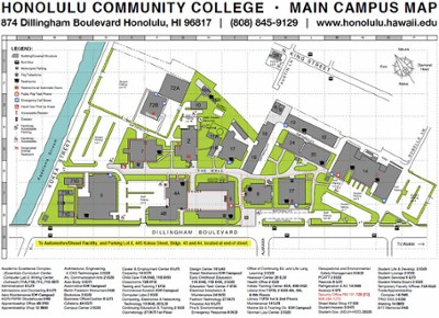 map of Honolulu Community College