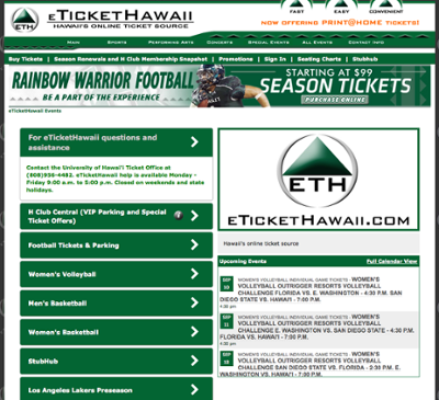 eTicketHawaii website screenshot