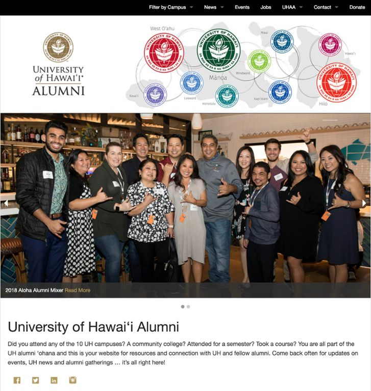 Main page of uhalumni.org